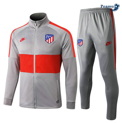 Veste Survetement Atletico Madrid Gris/Rouge 2019-2020