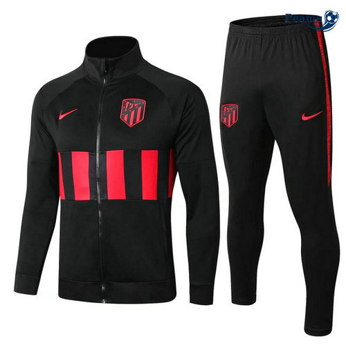 Veste Survetement Atletico Madrid Noir/Rouge 2019-2020