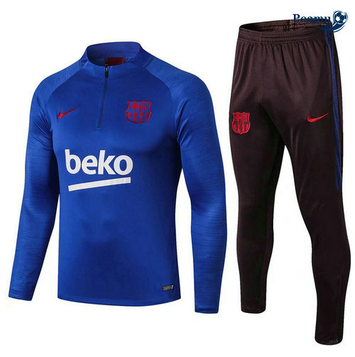 Survetement Barcelone beko Bleu clair 2019-2020 Sweat Zippe