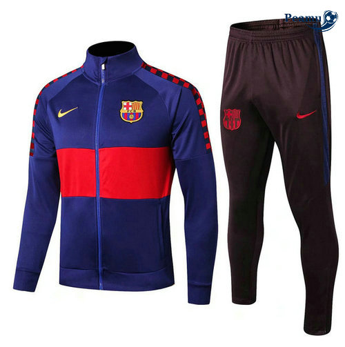 Veste Survetement Barcelone Bleu navy 2019-2020 Collo Alto