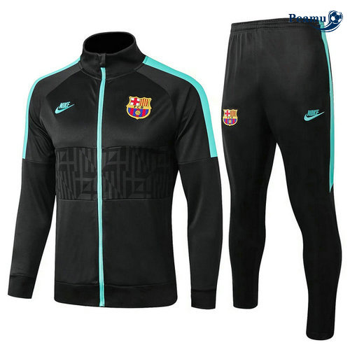 Veste Survetement Barcelone Noir 2019-2020