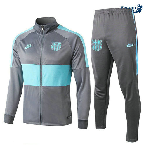 Veste Survetement Barcelone Gris 2019-2020