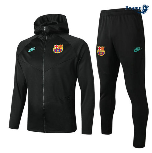 Survetement - Sweat à capuche Barcelone Noir 2019-2020