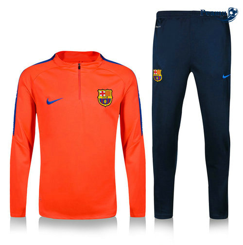 Survetement Barcelone Arancione/Bleu navy 2019-2020