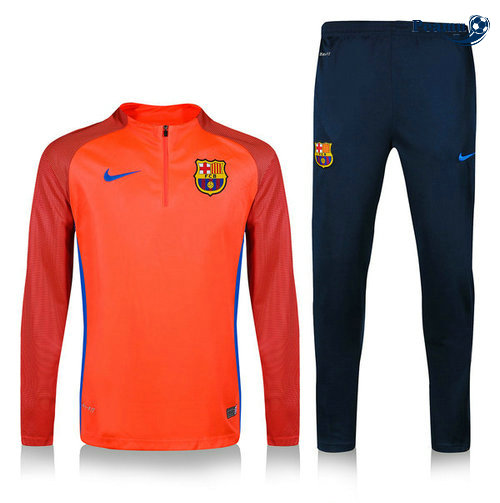 Survetement Barcelone Arancione/Bleu navy 2019-2020 M085