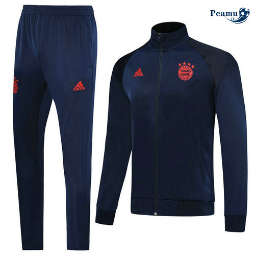 Veste Survetement Bayern Munich Bleu navy/Rouge 2019-2020