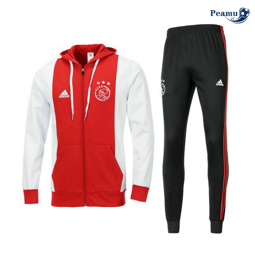 Survetement - Sweat à capuche Bayern Munich Rouge/Bianco 2019-2020