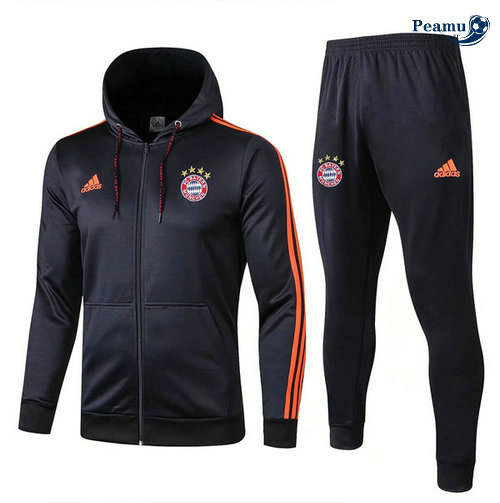 Veste Survetement con cappuccio Bayern Munich Bleu navy 2019-2020