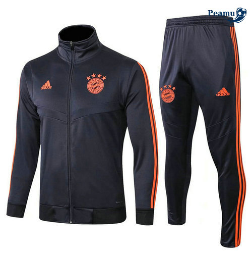 Veste Survetement Bayern Munich Bleu navy/Jaune 2019-2020