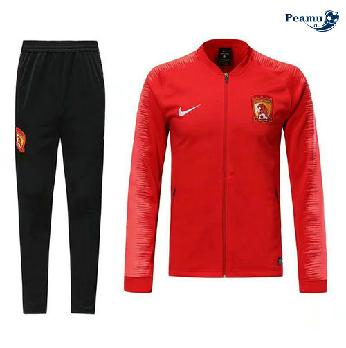 Veste Survetement Chine Rouge 2019-2020