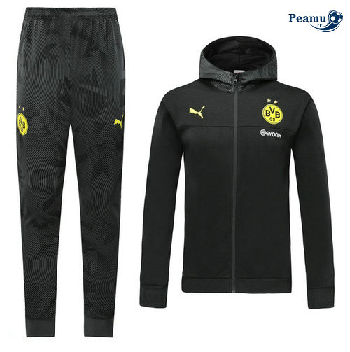 Survetement - Sweat à capuche Borussia Dortmund s Noir 2019-2020