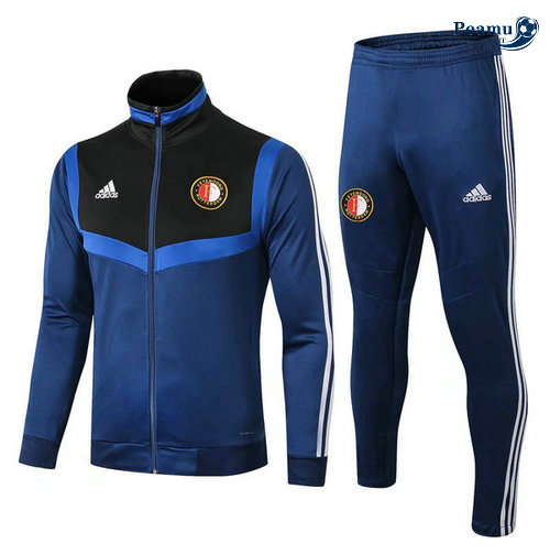 Veste Survetement Feyenoord Bleu navy 2019-2020 Collo Alto