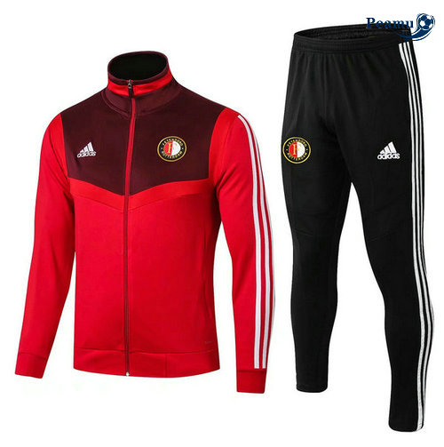 Veste Survetement Feyenoord Rouge Noir 2019-2020