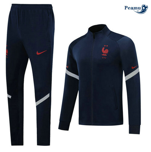 Veste Survetement France Bleu navy 2020-2021