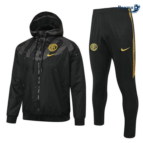Veste Survetement A Vento Inter Milan Noir/Jaune 2019-2020
