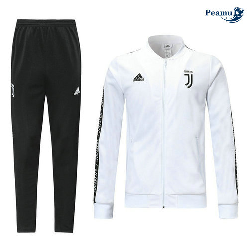Veste Survetement Juventus Bianco/Noir 2019-2020 M095