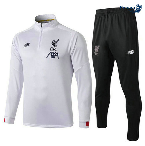 Survetement Liverpool Bianco/Noir 2019-2020 Collo Alto