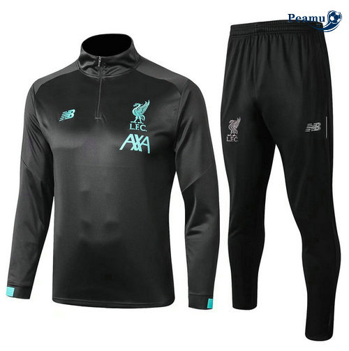 Survetement Liverpool Noir 2019-2020 Collo Alto M097