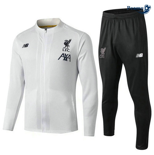 Veste Survetement Liverpool Bianco Noir 2019-2020
