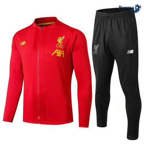 Veste Survetement Liverpool Rouge Noir 2019-2020