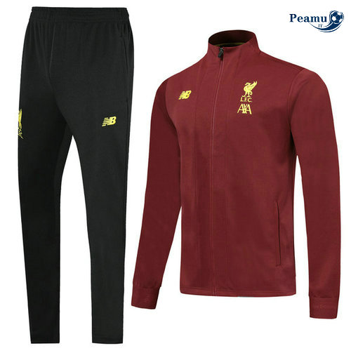 Veste Survetement Liverpool L.F.C Jujube Rouge 2019-2020 Collo Alto