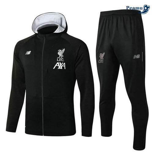 Survetement - Sweat à capuche Liverpool Noir 2019-2020