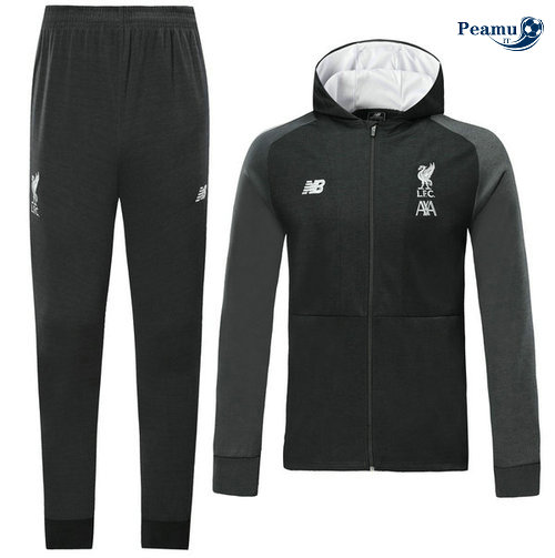 Veste Survetement con cappuccio Liverpool Noir 2019-2020