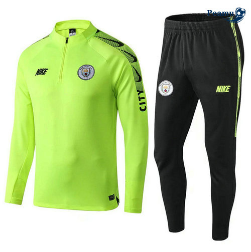 Survetement Manchester city Jaune/Verde 2019-2020