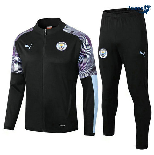 Veste Survetement Manchester City Noir/Porpora 2019-2020
