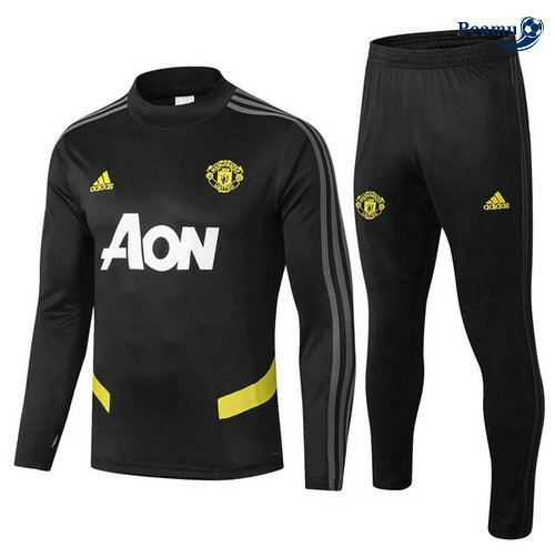 Survetement Manchester United Noir/Jaune 2019-2020