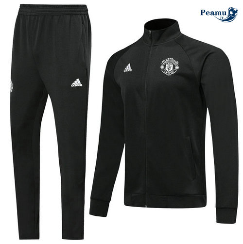 Veste Survetement Manchester United Noir 2019-2020