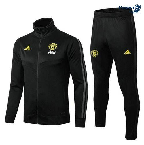 Veste Survetement Manchester United Noir 2019-2020 Collo Alto