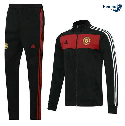 Veste Survetement Manchester United Noir/Rouge 2020-2021