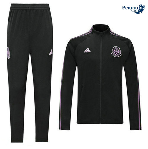 Veste Survetement Mexique Noir/Porpora 2019-2020