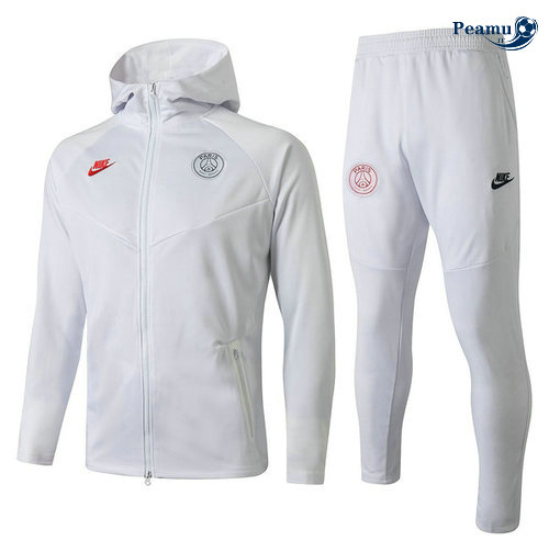 Survetement - Sweat à capuche PSG Bianco 2019-2020