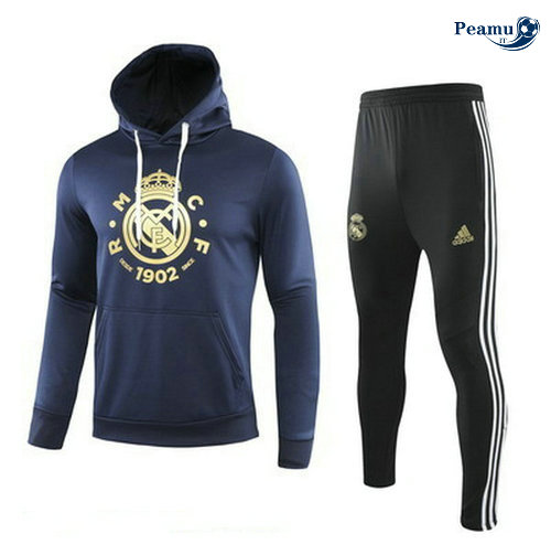 Survetement - Sweat à capuche Real Madrid Bleu navy/Noir 2019-2020
