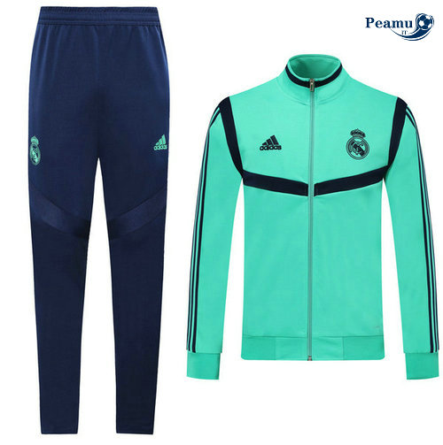 Veste Survetement Real Madrid Verde/Bleu clair 2019-2020