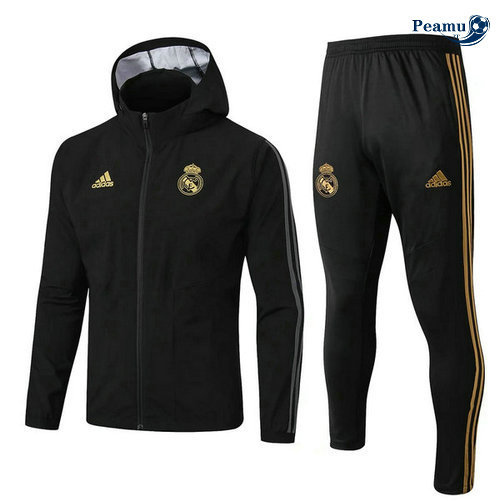 Veste Survetement A Vento Noir Real Madrid 2019-2020