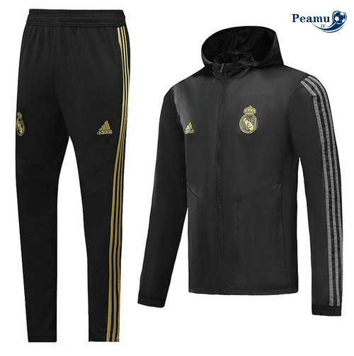 Veste Survetement A Vento Real Madrid Noir 2019-2020