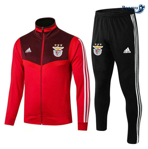 Veste Survetement S.L Benfica Rouge Noir 2019-2020