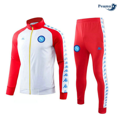 Veste Survetement SSC Naples Bianco/Rouge 2019-2020