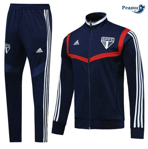 Veste Survetement Sao Paulo Bleu navy/Rouge 2019-2020