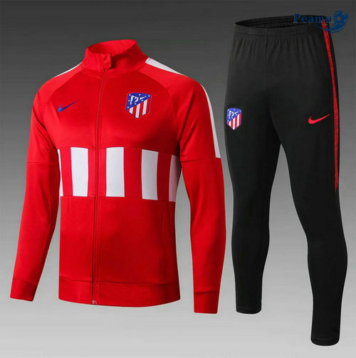 Veste Survetement Atletico Madrid Enfant Rouge/Bianco/Noir 2019-2020