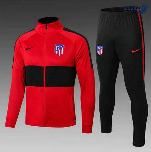 Veste Survetement Atletico Madrid Enfant Rouge/Noir 2019-2020