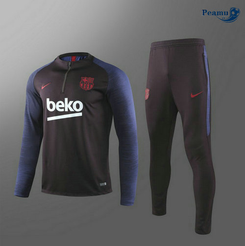 Survetement Barcelone Enfant Bleu navy 2019-2020