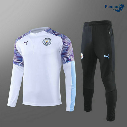 Survetement Manchester City Enfant Bianco 2019-2020
