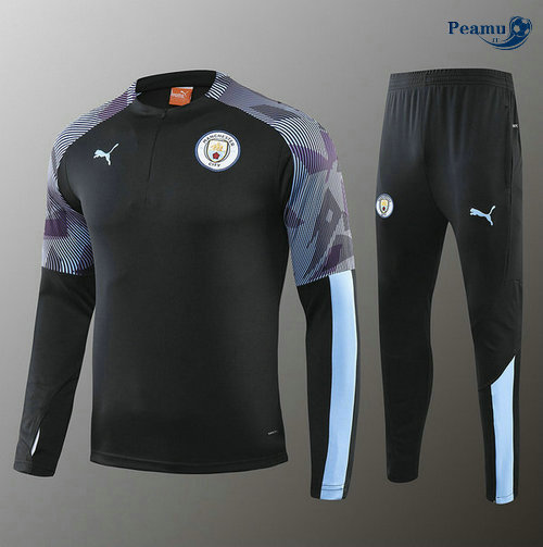Survetement Manchester City Enfant Noir/Porpora 2019-2020