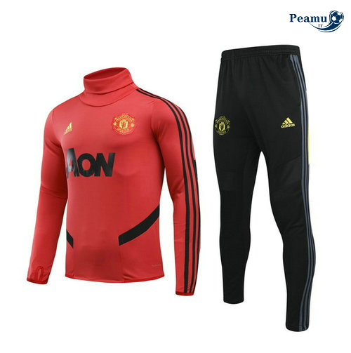Survetement Manchester United Enfant Rouge/Noir Collo Alto 2019-2020