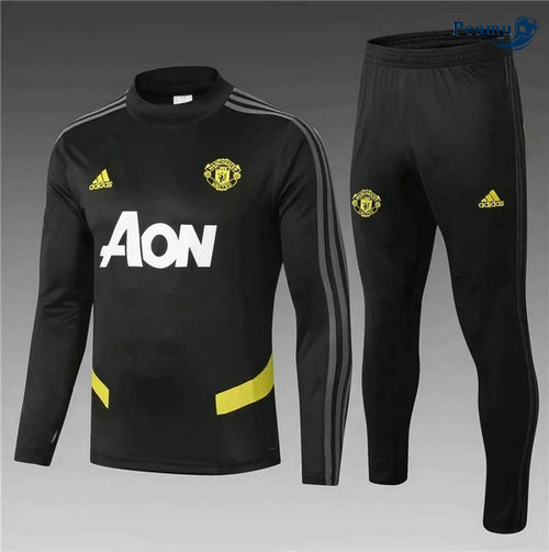 Survetement Manchester United Enfant Noir 2019-2020