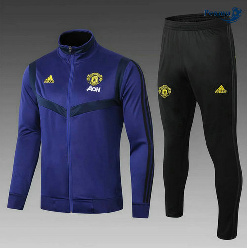 Veste Survetement Manchester United Enfant Bleu navy 2019-2020